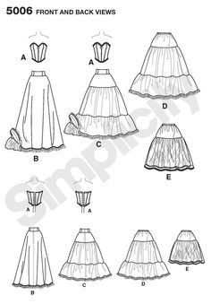 Womens Lingerie Costume Sewing Pattern 5006 Simplicity petticoat D Simplicity Sewing Patterns, Vintage Patterns, Vintage Sewing, Lingerie Couture, Sewing Lingerie, Sewing Clothes, Diy Clothes, Sewing Crafts, Sewing Projects