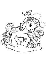 Retro My Little Pony coloring page. Horse Coloring Pages, Unicorn Coloring Pages, Easter Coloring Pages, Cute Coloring Pages, Colouring Pics, Adult Coloring Book Pages, Coloring Sheets, Coloring Books, Free Coloring