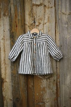 a9079b4d85 Linen baby striped blouse - toddler linen shirt -baby girls urban outfit -  boho blouse - girls tank top - infant girl blouse