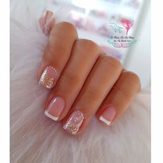 41 best winter nails design in 2020 page- 35 French Nails, French Manicure Nails, Manicure E Pedicure, Acrylic Nail Tips, Summer Acrylic Nails, Cute Acrylic Nails, Gel Nagel Design, Nagel Hacks, Glitter Gel Nails