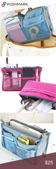 Must Have bag shaper/organizer Absolutely a must have! Keeps your bag organized, and safe from getting dirty, will also double as a base shaper helping your bag maintain it's shape over time. Also makes it super easy to switch bags in 1 sec.   Colors available: Sky blue Pink Hot pink Wine Purple  Coming 7 days please leave a comment and I will notify you when it's in stock. This will pay for itself, especially if you sell or trade purses on posh. I've lost a lot of money because a pen got…
