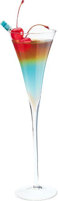 HPNOTIQ HEAVEN:1 oz. Hpnotiq, 2 oz. Champagne,1 oz. Chambord #drinks #cocktails #drinkrecipes