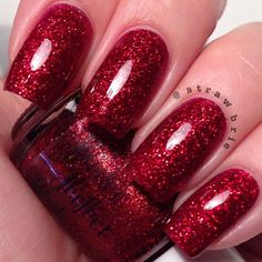 Christmas Red Glitter Nail Polish  Kevin  Home by PowderPerfect