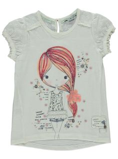 Designer Clothes, Shoes & Bags for Women Stylish Toddler Girl, Toddler Girl Style, Girls Tees, Shirts For Girls, Jupe Short, Girls Clothing Stores, Girl Trends, Night Dress For Women, Kid Styles