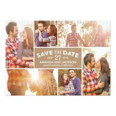 Photo Showcase Save The Date Craft Invitation Card