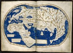 Henricus Martellus world map, ca. 1490 - It's said that Columbus used this map or one like it to persuade Ferdinand of Aragon and Isabella of Castile to support him in the early Vintage Maps, Antique Maps, Early World Maps, Isabella Of Castile, Art Carte, Les Religions, Medieval World, Map Globe, Islamic World