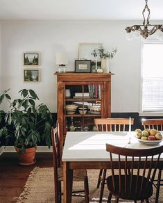 vintage mid century modern dining room with plants homedecor interiordesign diningroom diningroomideas midcenturymodern vintagedecor Mid Century Modern Dining Room, Sweet Home, Room With Plants, Country Style Homes, Modern Country, Country Decor, French Country, Home Decor Kitchen, Home Decor Inspiration