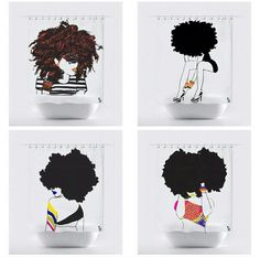 An Afro American Woman Shower Curtain