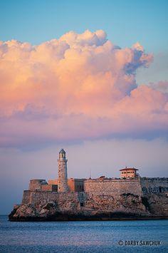 The Lighthouse at the Castle of Tres Reyes del Morro (Castillo de los Tres Reyes Magos del Morro).