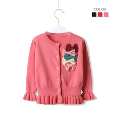 2013 Autumn-Summer knitted Kids Cardigan With Bows For Baby Girls New Arrival Children Sweater Free Shipping $22.90