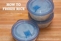How To Freeze Rice