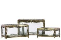3 Piece Metal Storage Set