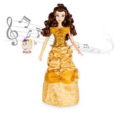 Belle Deluxe Interactive Doll with Singing Mrs. Potts Figure - 16''
