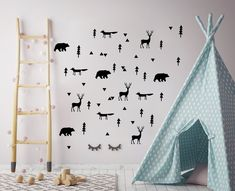 Forest wall transfers in black