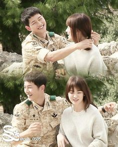 Movie Couples, Famous Couples, Cute Couples, Drama Korea, Korean Drama, Desendents Of The Sun, Descendants Of The Sun Wallpaper, Song Joon Ki, Couples
