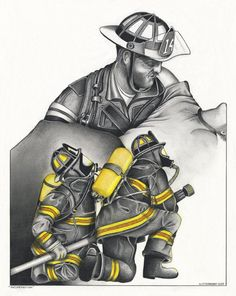firefighter art - Google Search