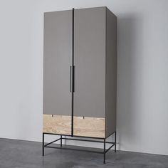 Rosenau wardrobe 200cm (H) x 80cm (W) x 60cm (D) The Roseau wardrobe includes inset handle details with steel framing and a choic