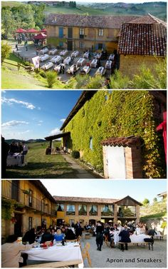 Hotel Villa Beccaris at the Barolo vineyards in Langhe Hills, Piedmont, Italy   Apron and Sneakers