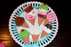 Ice cream cones sugar cookies