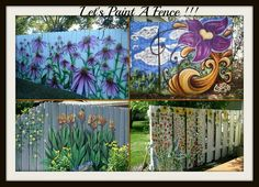 Painting the fence that adorns your garden