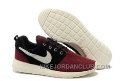 http://www.nikejordanclub.com/nike-roshe-run-suede-mens-dark-red-black-white-shoes-w8d3d.html NIKE ROSHE RUN SUEDE MENS DARK RED BLACK WHITE SHOES W8D3D Only $72.00 , Free Shipping!