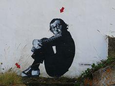 Woody Allen by Jef Aerosol.