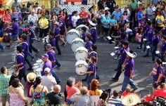 Brackenridge High School Band  in the King William Fair Parade