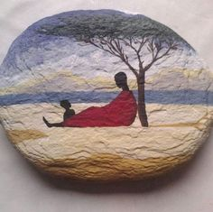 Family painted rock