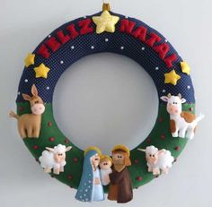 Looking for a Christmas decoration to be proud of and hang up year after year? Bucilla has some of the… Felt Christmas Decorations, Felt Christmas Ornaments, Christmas Nativity, Christmas Time, Christmas Wreaths, Holiday Decor, Nativity Crafts, Felt Crafts, Diy And Crafts