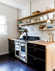 Scandinavian design is all about clean lines, touches of timber and a neutral colour palette - the perfect recipe for a modern minimal kitchen. Here are 11 modern Scandinavian kitchens that nail Nordic design. Timber Kitchen, Industrial Style Kitchen, Plywood Kitchen, Beach House Kitchens, Home Kitchens, Modern Kitchens, Farmhouse Kitchens, Country Kitchens, Dream Kitchens