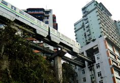 In Chongqing, one of the most populated cities in China, architects and city planners had to come up with a unique way of developing a vital monorail line. Their solution – having the train pass straight through a 19-floor apartment building. Architecture   Oddity Central - Collecting Oddities