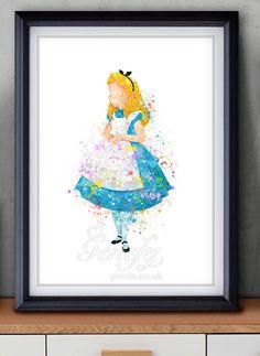 Disney+Alice+au+pays+des+merveilles+Poster+par+GenefyPrints+sur+Etsy