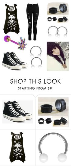 """My First Polyvore Outfit"" by sky-maggie ❤ liked on Polyvore featuring Converse, NOVICA, WithChic and Dorothy Perkins"