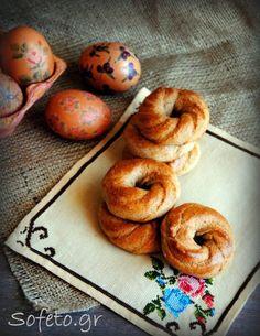 Πασχαλινά κουλουράκια ολικής αλέσεως , χωρίς ζάχαρη. Bagel, Biscotti, Sugar Free, Healthy Recipes, Healthy Food, Easter, Bread, Candy, Cookies