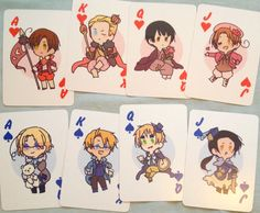Hetalia Cardverse Playing Cards by kallenstuff on Etsy *buys like 50 of these*