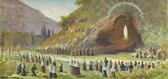 In 1858 Virgin Mary appears to Bernadette at Lourdes.