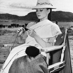 audrey hepburn: elegant and classy even when she did some knitting