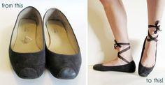 DIY ballet shoes