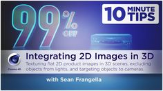 How to integrate 2D images in 3D Scenes using Cinema 4D - Free C4D Tags Tutorial