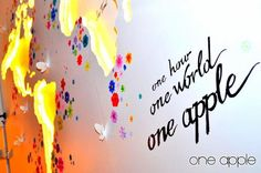One hour, one world,one apple