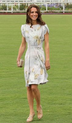 Kate dresses up for the polo