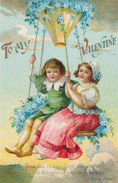 Such beautiful colors and graphics on this vintage postcard from days gone by....