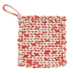 Wooly Pot Holder 2-Pcs, Red, 180