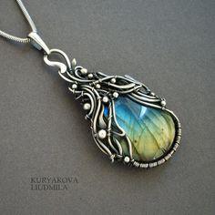 MORNING DEW by KL-WireDream.deviantart.com on @deviantART - Amazing wire jewellery artist