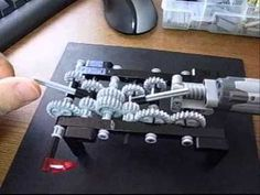Lego Technic 4 Speed Gear Change Transmission.wmv - YouTube