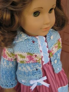 PDF Knitting Pattern for American Girl Doll by CrabapplesBoutique