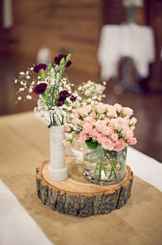 Rustic Pink and Red New York Wedding