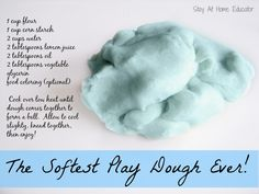 The softest play dough ever - Stay At Home Educator