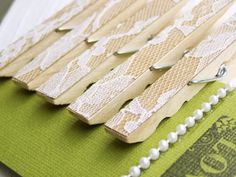 SALE -Lace Clothespins -Antique White -DIY Wedding Accessory -Shabby Chic Wedding -Woodland Wedding -Country Wedding - Top Selling. $6.40, via Etsy.