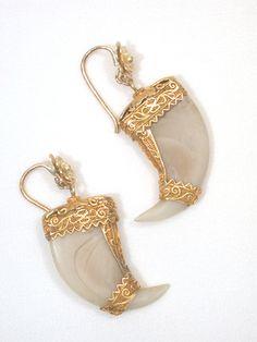 British Raj: Tiger Claw Earrings